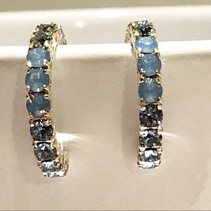 Rhode & Co. Jewelry - ⬇️$50 Swarovski Crystal White Blue Sterling Silver